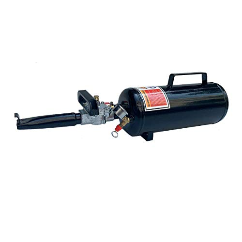 SUDEG Asiento de extracción de 8 litros, inflador de neumáticos portátil, herramienta para asiento de motocicleta, ATV, tractor, taller de coches, color negro
