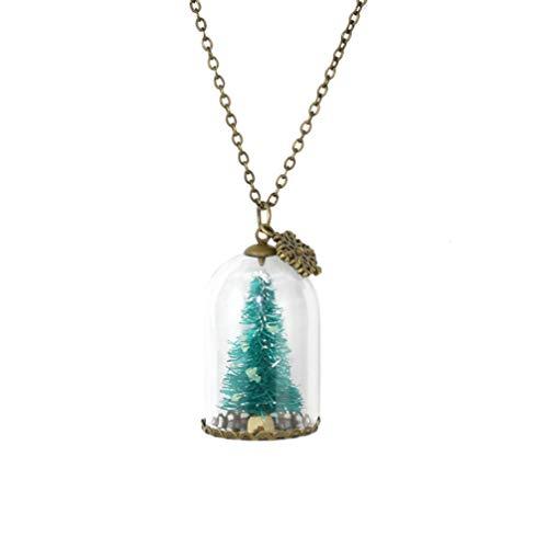 Amosfun árbol de Navidad Luminoso Botella de Vidrio Luminoso Collar Colgante Resplandor...