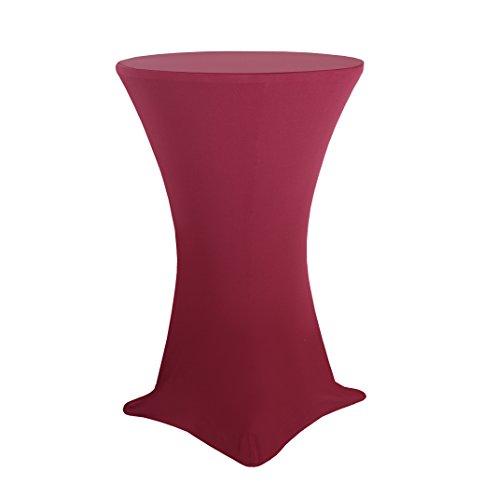Stretch Stehtischhusse elastische Stretchhusse Husse für Stehtische Bistrotisch in Wein-Rot Ø 80-85cm