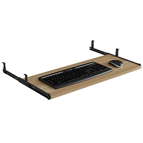 Bandeja para teclado debajo del escritorio Extensor de escritorio para computadora con deslizadores con cojinetes de bolas, mayor comodidad y espacio útil en el escritorio, fácil instalación