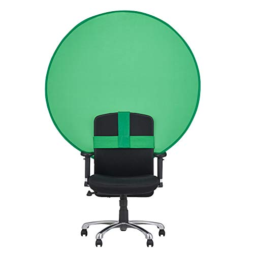 """ELECOM 51"""" Diameter Photography Background Green Chroma Key Portable & Holdable Backdrop with Carry Bag (PCA-CKSF01GN)"""