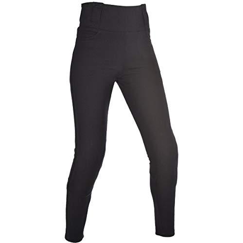 Oxford - Pantalones de mujer de Kevlar para moto con revestimiento de mallas - Negro (Reg) - Negro, 52