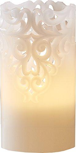 Star 062-24 Bougie LED, Plastique, weiß, 8.0 x 8.0 x 15.0 cm