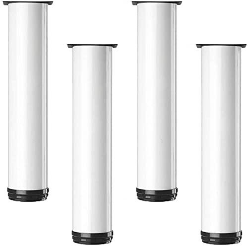 4 stuks Kasten Benen Meubelpoten Verstelbare Metalen Tafelpoten Meubelvoeten Aluminium Voeten Vervanging Meubelverhogers Benen Bankpoten Sofa Bureaupoten Bedverhogers (25Cm)
