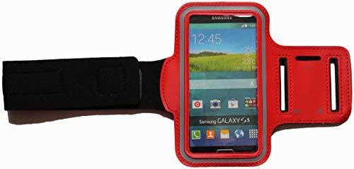 Sport-Armband Schweißfest Schutztasche für Sony Xperia X Compact Fitness Handyhülle Armtasche mit Kopfhöreranschluss, Laufen, BSM Rot