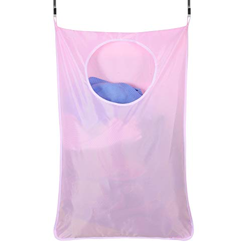 Star Supermarket deur-hangende wasmand, Oxford-stoffen zak hangende wasmand, tas met 2 roestvrij stalen deurhaken, 2 stuks zuighaken voor slaapkamer, kinderkamer, slaapkamer of kast