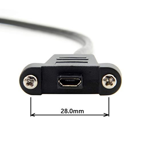 3 m 5 m Micro USB 5 Pin Mannelijke naar Vrouwelijke Extension Panel Mount Type Kabel met Schroeven Model: U2-351-3.0M/U2-351-5.0M 3.0M