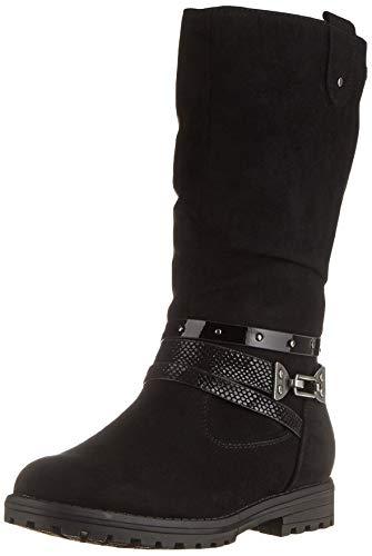 s.Oliver Mädchen 5-5-46602-25 Kniehohe Stiefel, Black, 38 EU