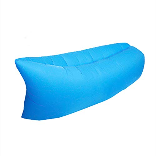 JYL Sofá Inflable Impermeable Tumbona Perezosa Tumbona de Aire Cama inflada, Sofá Inflable para Patio Trasero, Piscina, Playa, Viajes, Camping,Azul