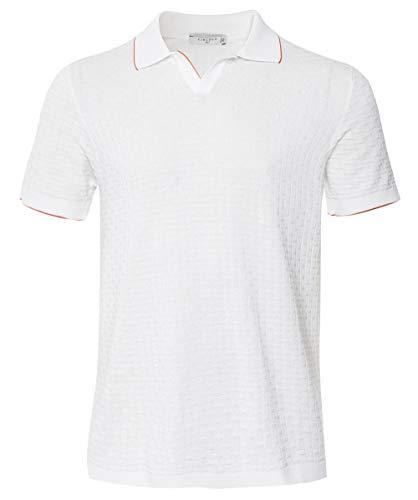 Circolo 1901 Men's Textured Knit Riviera Polo Shirt White M