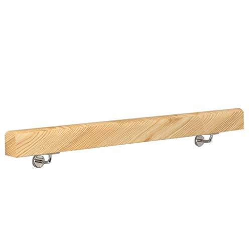 ARMREST 50-300cm. Barandilla con Soporte de Acero Inoxidable - Kit Completo. para Interiores y Exteriores, escaleras de Madera, Escalera, pasamanos, barandilla, Soporte de riel