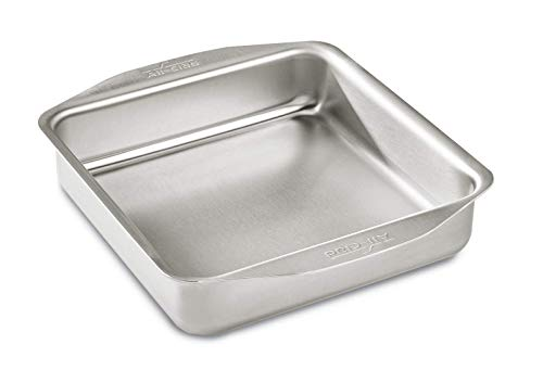 All-Clad 9000 D3 Stainless Ovenware 8x8 Inch Baking Pan, Stainless Steel, 8 by 8-Inch