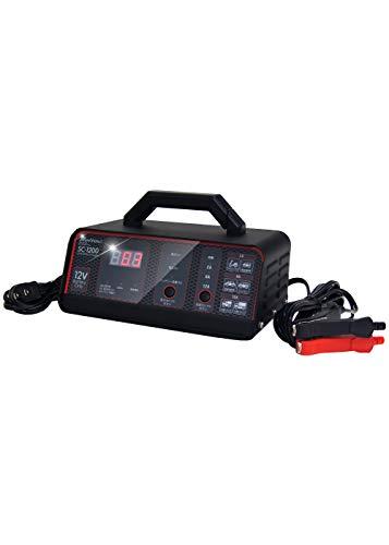 メルテック バッテリー充電器(バイク~大型トラック) 正式PSE取得 DC12V用 定格12A バッテリー診断機能付 長...