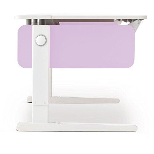 Moll Champion Style Left Up Schreibtisch | flieder | 120 x 72 x 53-82 cm (Breite x Tiefe x Höhe) |...