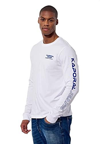 Kaporal - T-Shirt régular Homme imprimé en 100% Coton - Dipol - Homme - L - Blanc