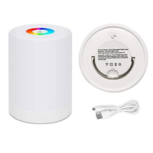 Bunte Lichter tragbare Touch-LED-Schreibtischlampe 1001 Atmosphäre kreative Ladenachtlicht Rundbett Pat Licht für Weihnachtsgeschenke