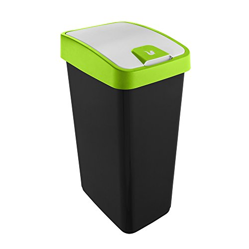 Preisvergleich Produktbild keeeper Premium Abfallbehälter mit Flip-Deckel,  Soft Touch,  45 l,  Magne,  Grün