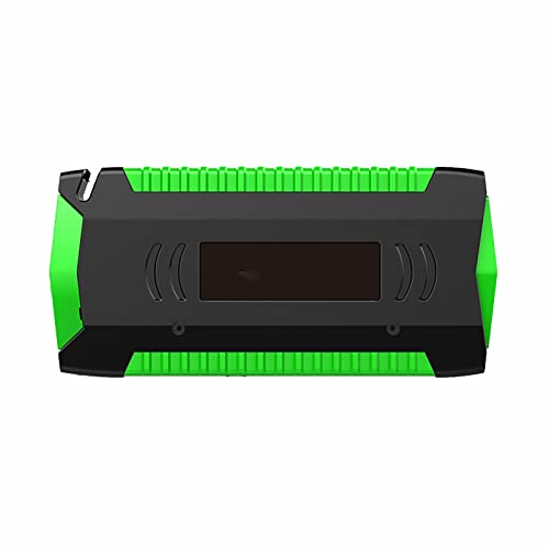 Arrancador De Batería Arrancador De Litio 16000mah Arrancador De Coches Cargador De Booster Bateria Booster Cargador Powerbank Y Cables De Arranque De Coche Apto for Coches Y Motos (Color : Green)