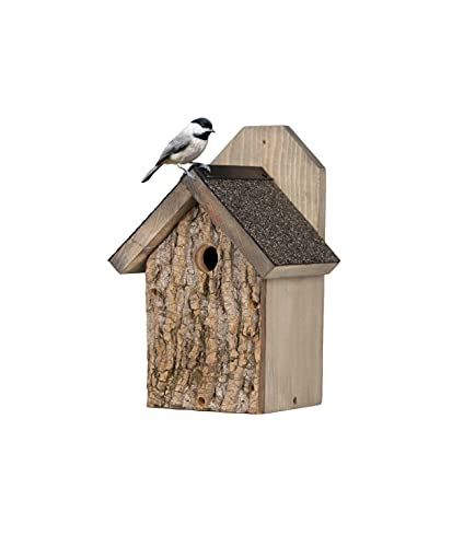 Uncle Dunkels Ultimate Wren and Chickadee House - Solid Pine Houses...
