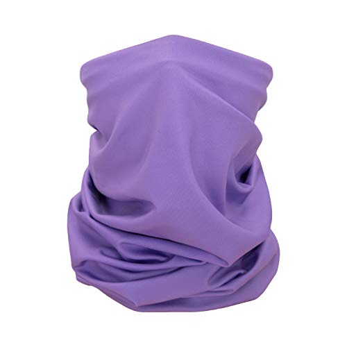 CK Formula Purple Bandana Neck Gaiter Polyester Microfiber Machine Washable Reusable for Men Women and Kids, Pack of 1