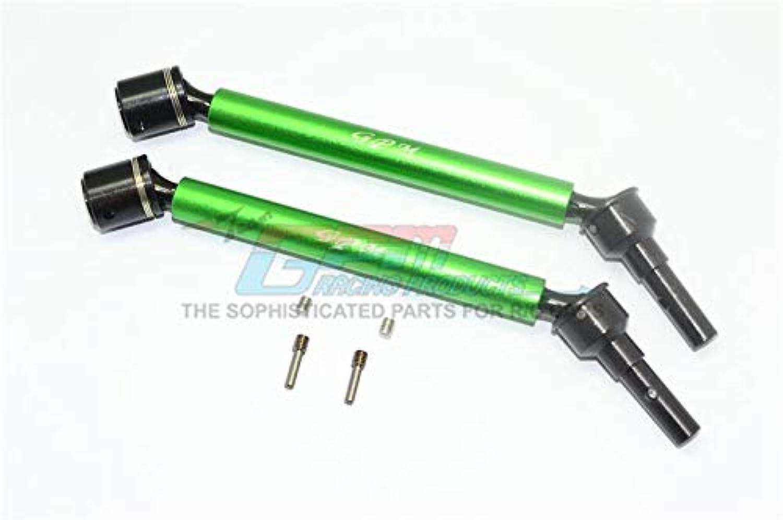 Traxxas E-Revo 2.0 VXL Brushless (86086-4) Aluminum Body & Steel Joint Adjustable Front Rear CVD Shaft - 1Pr Set Green