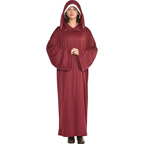 amscan Adult Red Hooded Robe Costume, Multicolor, One Size