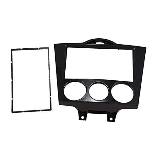 XINYAN qun-qun 2DIN Radio Fascia Fit para Mazda RX8 RX-8 Frame Radio Reembolso CD DVD Estéreo Panel de Audio Montaje Instalar Kit Dash Kit Placa de Cara (Color : Black)