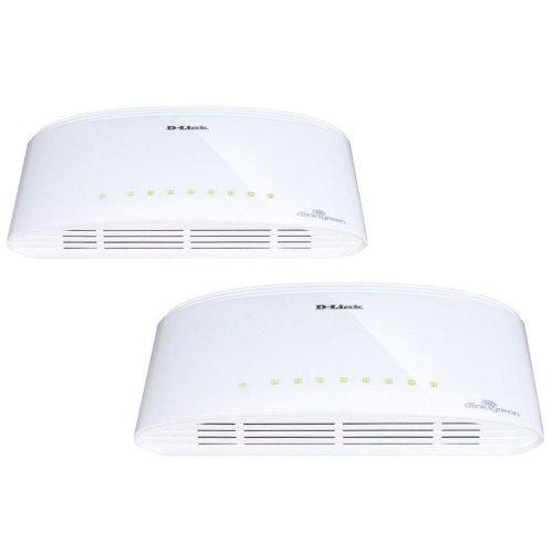 D-Link DGS-1008D x2 Unmanaged Gigabit Ethernet (10/100/1000) Weiß - Netzwerk-Switches (Unmanaged, Gigabit Ethernet (10/100/1000), Vollduplex)