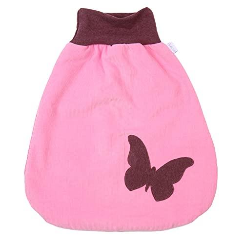 Lilakind Saco de dormir para bebé con diseño de mariposas, fabricado en Alemania, color rosa, sin forro, tallas S-XXL, fabricado en Alemania Rosa. 90 cm largo