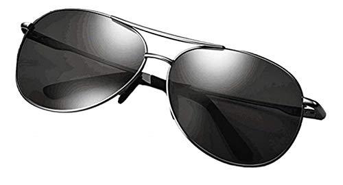KIRALOVE Occhiali da sole goccia uomo - lenti nere - pop - rapper - montatura in pvc nera - uv 400 polarizzati - primavera - autunno - inverno - estate