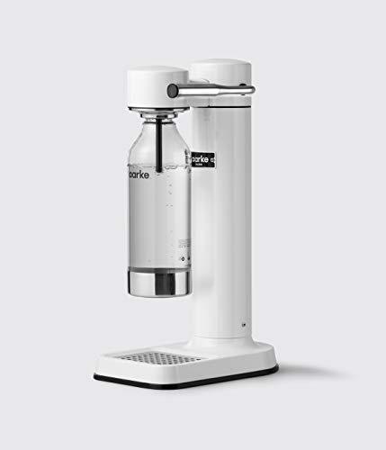 Aarke Carbonator II Wassersprudler (Edelstahl Gehäuse, Soda Sprudelwasser, inkl. PET-Flasche, kompatibel mit CO2 Sodastream Zylindern) Weiß