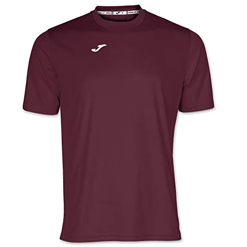 Joma Combi Camiseta Manga Corta, Hombre, Burdeos, XL