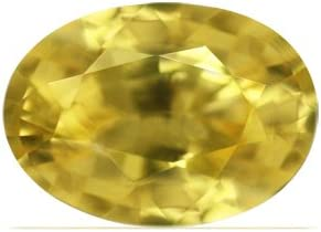 GemsNY 0.90 Carat Natural quality Excellent assurance Oval Yellow Sapphire