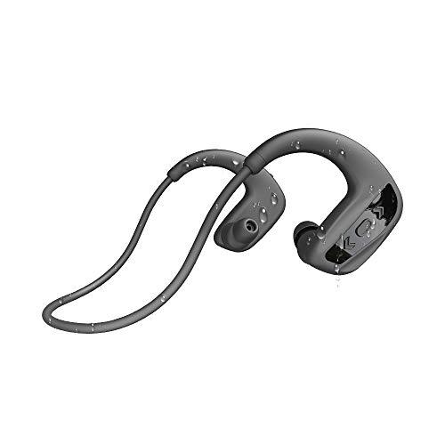 Natación Auriculares Bluetooth 24 horas de reproducción NIZIYI 16 GB de memoria Reproductor de MP3 Auriculares inalámbricos IPX8 Deportes a prueba de agua Correr Auriculares estéreo (Negro)