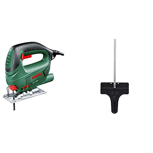 Bosch 0.603.3A0.700 Sierra de calar con maletín, 240 V, Negro/Verde, 500 W + Bosch 2 608 040 289 - Tope paralelo - - (pack de 1)