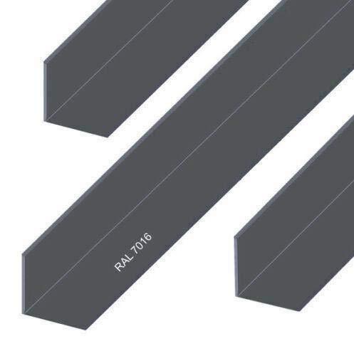 Aluminium Winkel Aluwinkel Alu Winkelprofil Anthrazit Pulverbeschichtet RAL 7016 (15x15x2 mm - 1500 mm)