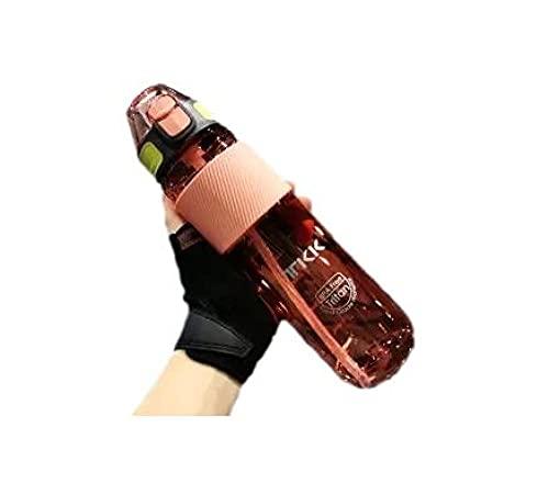 SDGSDG Protección del medio ambiente Botella deportiva sin BPA/Taza de agua con pajita fitness-pink_750ml/ Botella de agua deportiva para gimnasio, viajes, oficina