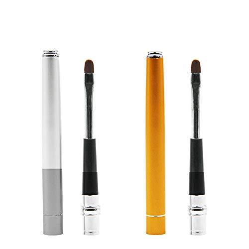 1 Packung Tragbare Einziehbare Lippenpinsel Reise Lippenstift Gloss Applikator Mit Abdeckung Mini...