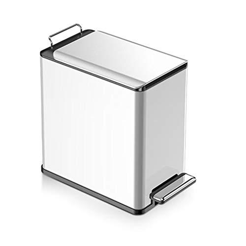 Mülleimer Poubelle Abfalleimer Tragbare Abfallbehälter Pedal Typ Edelstahl Mit Deckel Papierkassette Dichtung Home Küche Wohnzimmer Badezimmer 3 Farbe Rollsnownow