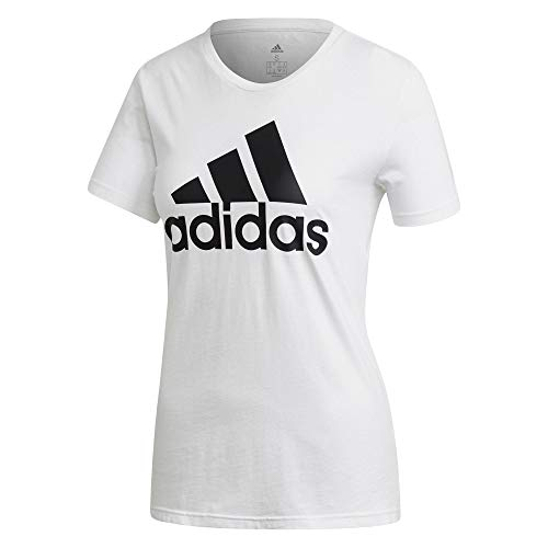 adidas W Bos Co Tee, T-Shirt Donna, White, L