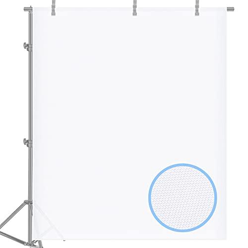 Neewer 1,8 m x 1,5 m Nylon Seda Blanca Tejido Difusión Sin Costura para Fotografía Softbox, Tienda de Luz y Modificador de Luz de Iluminación Suavizar Luz y Reflejos (Blanco)