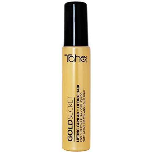 Tahe - Lifting Capilar Secret Gold para Cabellos Deshidratados Encrespados y Sin Brillo con Queratina Pura y Oro Líquido, 50 ml