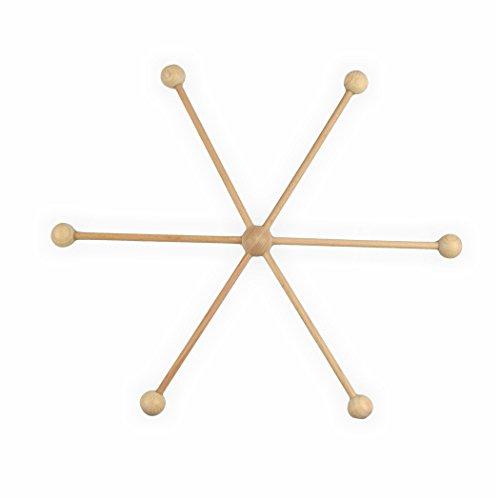 Mobilestern Holz 13 teilig 33 cm Mobile basteln