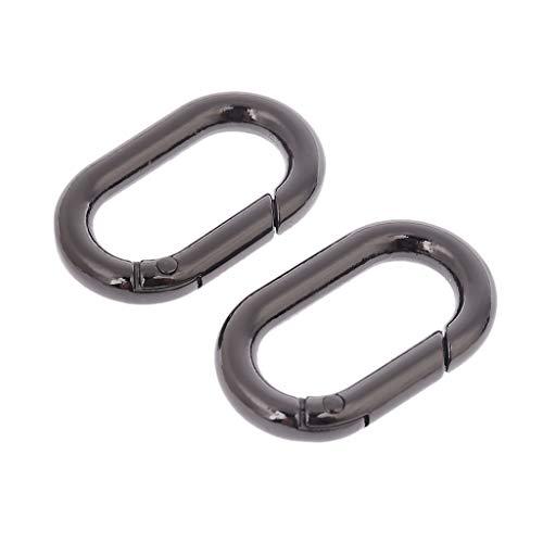 Haptian metalen lente ovale ring sleutelhanger lederen tas riem riem gesp hond ketting klap gesp