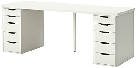 IKEA Table with 10 Drawers, White 122020.11820.3834