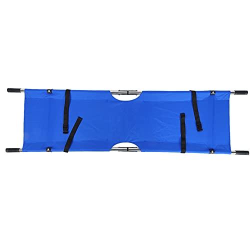 Deror Lit de civière Se Pliant portatif 150kg de traitements d'urgence de ménage d'hôpital de civière(Bleu)