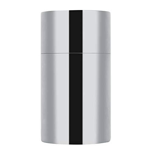 Caja de almacenamiento de condimentos de hojas de té de acero inoxidable 304 portátil, organizador de cocina de bote de lata de té