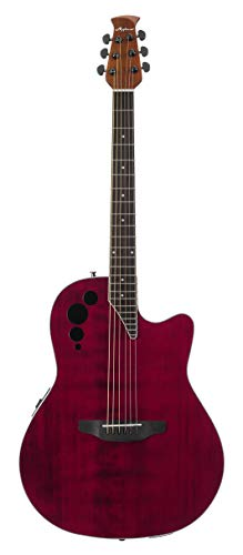 Ovation Applause Guitarra Electro-Acústica Mid Cutaway ruby red AE44II-RR