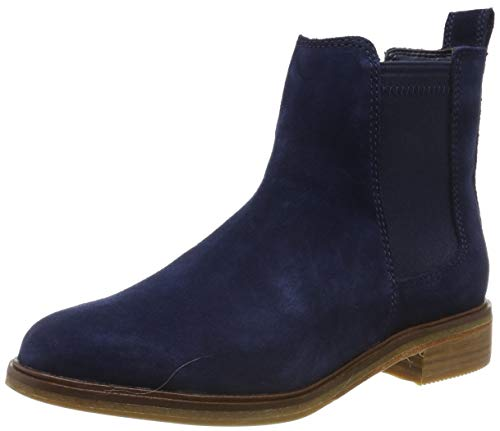 Clarks Damen Clarkdale Arlo Chelsea Boots, Blau (Navy Suede Navy Suede), 37 EU