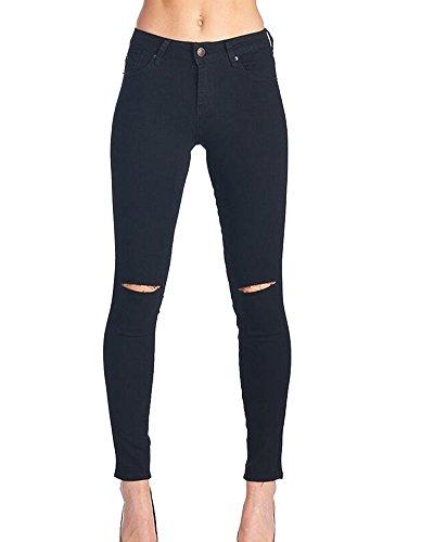 Kasen Mujer De Cintura Alta Leggings Elásticos Skinny Slim Pantalones Negro XL